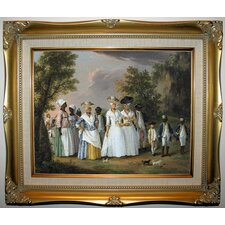 'Free Women of Color with their Children and Servants in a Landscape' by Agostino Brunias Framed Painting Print