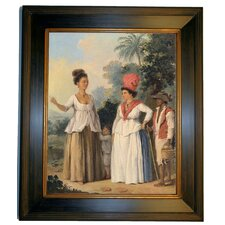 'West Indian Women of Color, with a Child and Servant 1780' by Agostino Brunias Framed Painting Print