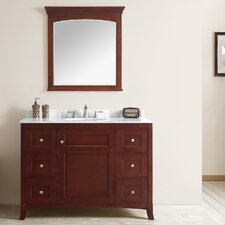 Arezzo 48 Single Vanity Set with Mirror by Vinnova