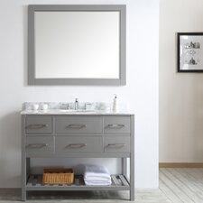 Foligno 48 Single Vanity Set with Mirror by Vinnova