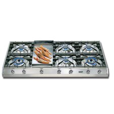 """48"""" Gas Cooktop with 6 Burners"""