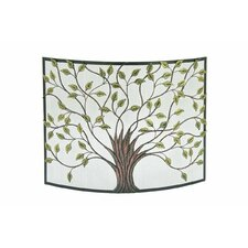 Single Panel Iron Fireplace Screen