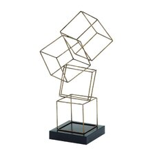 Metal Square Table Sculpture