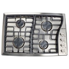 """30"""" Gas Cooktop with 4 Burners and Side Control"""