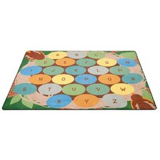 Robins Eggs Alphabet Seating Brown/Green Area Rug