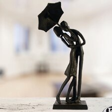 Figur Umbrella Couple Courting