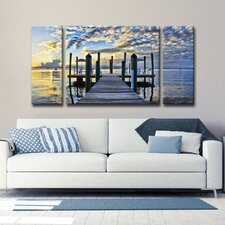 Ready2HangArt™ 'Pier Burst' by Christopher Doherty (Set of 3)