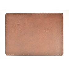 Andeline Chestnut Buffalo Leather Placemat