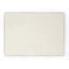 Andeline Bianco Croc Leather Placemat (Set of 4)