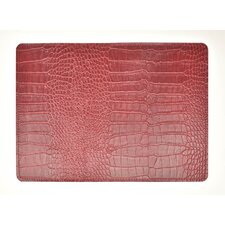 Andeline Fire Crocodile Leather Placemat (Set of 4)