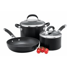 Premier Professional 3 Piece Non-Stick Stainless Steel Cookware Set