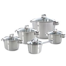 Conical Glas 5-Piece Stainless Steel Cookware Set (Set of 5)