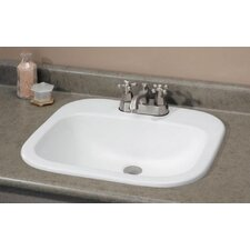 Ibiza Self Rimming Bathroom Sink with Faucet Center 4""