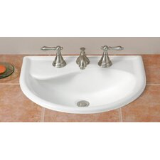 Calypso Self Rimming Bathroom Sink with Faucet Center 4""