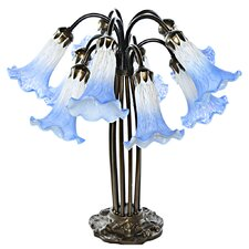 """10 Lily Downlight 21"""" Table Lamp"""