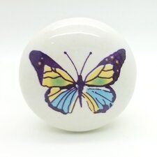 Colourful Butterfly Mushroom Knob (Set of 2)