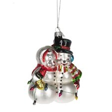 Seasons Trimmings Mr and Mrs Snowman Ornament