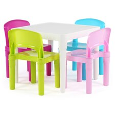 Kids' 5 Piece Square Table and Chair Set