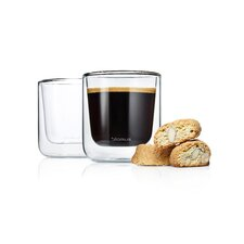 Nero 6.7 oz. Insulated Double Wall Coffee Glasses (Set of 2)