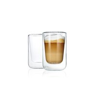 Nero 8.4 oz. Insulated Double Wall Cappuccino Glasses (Set of 2)