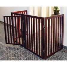 Convertible Wooden Dog Gate
