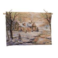 Fibre Optic Winter Wonderland Tapestry