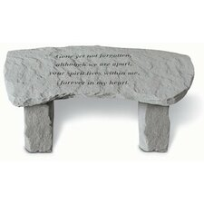 Gone Yet Not Forgotten Stone Garden Bench by Kay Berry, Inc