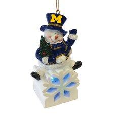 NCAA Snowman LED Ornament