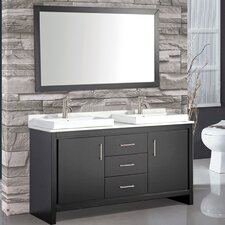 Belarus 60 Double Sink Bathroom Vanity Set with Mirror by MTD Vanities