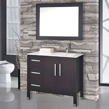 "Monaco 40"" Single Sink Bathroom Vanity Set with Mirror"
