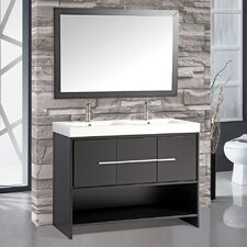 Belarus 48 Double Sink Bathroom Vanity Set with Mirror by MTD Vanities