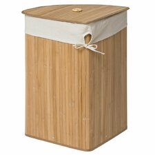 Kayo Corner Wicker Laundry Bin