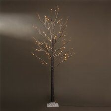 7' Brown Artifical Christmas Tree with 120 LED Warm White Lights