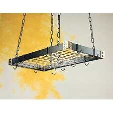 Gourmet Custom Contrasting Hanging Pot Rack