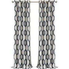 Renzo Geometric Blackout Grommet Single Curtain Panel