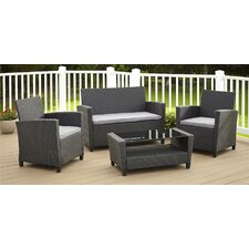 Feltonville 4 Piece Deep Seating Group with Cushion by Varick Gallery®