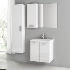 City Play 24 Single Bathroom Vanity Set with Mirror by ACF Bathroom Vanities