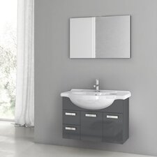 Phinex 34 Single Bathroom Vanity Set with Mirror by ACF Bathroom Vanities