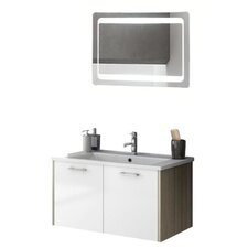 Nico 34 Single Bathroom Vanity Set with Mirror by ACF Bathroom Vanities