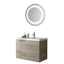 New Space 34 Single Bathroom Vanity Set with Mirror by ACF Bathroom Vanities