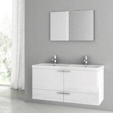 New Space 47 Double Bathroom Vanity Set with Mirror by ACF Bathroom Vanities