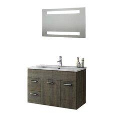 Loren 34 Single Bathroom Vanity Set with Mirror by ACF Bathroom Vanities