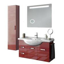 Phinex 43 Single Bathroom Vanity Set with Mirror by ACF Bathroom Vanities