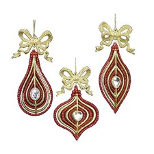 3 Piece Drop, Finial and Onion Ornament Set