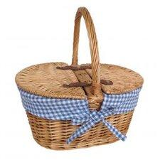 Child's Lined Lidded Picnic Basket