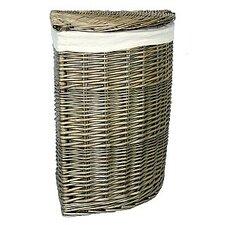 Wicker Laundry Bin with Corner Linen