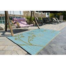 Fernando Reversible Olive Green/Blue Outdoor Area Rug