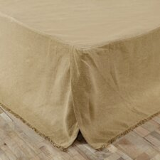 Burlap Fringed Bed Skirt