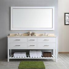 Foligno 72 Double Vanity Set with Mirror by Vinnova