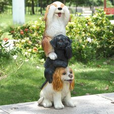 Stacking Dogs - See, Hear and Speak No Evil Statue